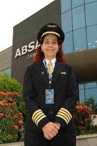ABSA Cargo Airline flight captain and Latin America's first female flight captain of a wide-body aircraft. (Photo: Business Wire)